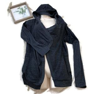 Athleta Blissful Waterfall Hooded Knit Cardigan S